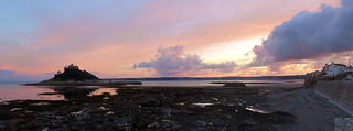 St.Micheal's Mount and Marizion at sunset
