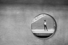 adonis (Rien van Voorst) Tags: streetphotography straatfotografie strasenfotografie fotografíacallejera photographiederue fotografiadistrada monochrome city urban highcontrast fuji xt20 adonis man metro tube ubahn hole cirkel circle