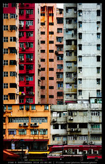 Superdense Facades (reassembling.visions) Tags: 香港 гонконг china carlzeiss manualfocus manuallens nikond800 darktable asia spring hongkong architecture archonly frontalfacades perspectivecorrection repeatingpatterns constrained milvus1450 decay