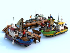 fishing boat project1.lxf (Brick picker) Tags: boat captain daniel fishing old lego moc afol ideas creator brick brique bricks briques legos legocreation legomoc vintage figurinescale figure modular dom river ocean ship bois wood bateau jetty
