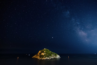 Bergeggi island and the Milky Way - L'isola di Bergeggi e la Via Lattea