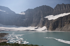 Upper Grinnell Lake, Grinnell Glacier, and Salamander Glacier (hike734) Tags: