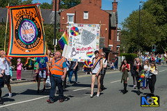 Wigan Pride 2018. (Nikon Ranger) Tags: red wigan pride wiganpride2018 nikonranger nikond3s nikon 2470 lbgt lbgtq colorful street people parade rainbow colour color outside outdoors 2018 flowerpower mince mincing gmbunion orange westleigh equality