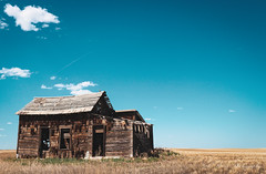 Abandoned Barn on the Plains, Alberta, Canada (NickBerryPhotography) Tags: abandoned rural barn old deteriorate plains alberta blue sky broken