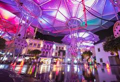 Color Riots (jacysf) Tags: multicolors clarkequay throughherlens urban eveningscene longexposure reflections
