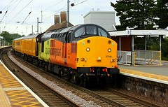 Late running at Manningtree (Chris Baines) Tags: network rail test train manningtree colas 37116