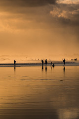 From a Distance (SemiXposed) Tags: golden sky clouds hazy asia bali indonesia still sony