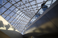 Under the Louvre pyramid (Paul Cook59) Tags: skylight louvre paris atrium france shadow architecture