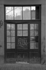 (Michael__Riley) Tags: black white bandw bw abandoned old building street