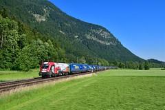 """1116 159 """"ÖBB"""" Niederaudorf (Matthias Greinwald) Tags: 1116 159 öbb österreichische bundesbahn güterzug zug werbelok taurus niederaudorf"""