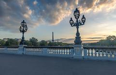 Eiffeltower framed by lamps (andreasmally) Tags: eiffeltower eiffelturm paris pont alexandre iii brücke bridge france frankreich