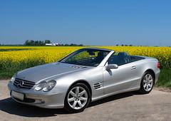 Mercedes R230 (Po Annerfeldt) Tags: bl㥠mercedes r230 car bil sony a99 sommar summer