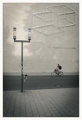 _twos (fot_oKraM) Tags: lwl lwlmkk museum fassade fahrrad leeze bike bicycle muenster muensterland nrw lampe laterne lamp strase street