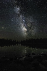 A Thousand Splendid Suns (courtney_meier) Tags: brooklynlake landscape medicinebowmountains milkyway rockymountains snowyrange wyoming airglow darkskies galaxy highelevation lake longexposure mountains newmoon night nightscape nocturnal reflection silhouette starreflection stars subalpine trees water