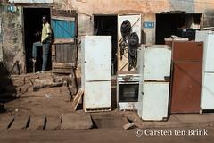 Korhogo morning - the refrigerator (10b travelling / Carsten ten Brink) Tags: 10btravelling 2018 africa africaine african afrika afrique carstentenbrink cotedivoire elfenbeinkueste iptcbasic ivorian ivorycoast korhogo senoufo senufo westafrica africain cmtb ivoirien ivoirienne north refrigerator tenbrink whitegoods