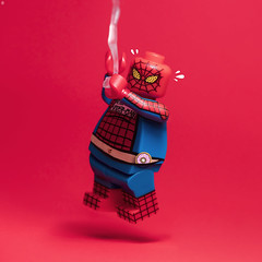 Fat Spider-Man (Jezbags) Tags: fat spiderman marvel marvelstudios lego legos toy toys overweight fail avengers phat canon canon80d 80d 100mm close upclose sweaty doughnut red web