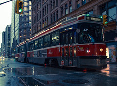 501 Car (A Great Capture) Tags: agreatcapture agc wwwagreatcapturecom adjm ash2276 ashleylduffus ald mobilejay jamesmitchell toronto on ontario canada canadian photographer northamerica torontoexplore rian rain rainy days streetcar wet puddles street ttc torontotransitcommission queen nevillepark red rocket redrocket transport transportation reflection mirror glass reflections cityscape urbanscape eos digital dslr lens canon 70d sigma