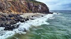 Malibeauty. (Ryan Hallock) Tags: clouds weather drone djimavicpro rocks sand ca outdoors beauty cliffs beach water malibu california pointdume pacificocean