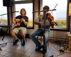 Day 5 - Musicians at La Salicorne on Grande Entree (Bobcatnorth) Tags: lesilesdelamadeleine magdalenislands quebec canada summer 2018 cycling velo bicycle bicycling cycletouring bicycletouring touring tourdevelo gulfofstlawrence