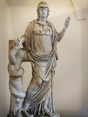 Statue from the Campus Martius originally thought to be Hygieia goddess of health and cleanliness but restored as Athena (Minerva) Roman (mharrsch) Tags: campusmartius athena hygieia goddess healing cleanliness miverva sculpture statue palazzoaltemps rome italy mharrsch