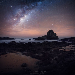 Countless Stars (Gift of Light) Tags: camelrock bermagui newsouthwales australia sea ocean seascape shore beach rock reflex reflection star stars galaxy milkyway night nightscape landscape nature naturephotography longexposure travel traveldestination touristattraction sony sonyalpha alpha sonya7rii sonya7rmkii a7rii a7rmkii zeissloxia21mmf28 loxia zeiss 2128 2821 21mm f28 feisol feisolct3372elitetripods ct3372