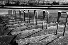 Downward Trend (RansomedNBlood) Tags: nikonf charleston street eastman2366 blackwhite bw 35mm wv westvirginia steps railing waterfront