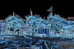 India - Gujarat - Veraval - Dockyard - Traditional Wooden Boats - 9dd (asienman) Tags: india gujarat veraval dockyard asienmanphotography asienmanphotoart asienmanpaintography