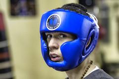 In the blue corner (Frank Fullard) Tags: frankfullard fullard boxer blue fighter youth portrait ring sport irish ireland serious face expression
