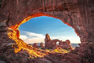 Arches National Park Turret Arch North Window Frozen Wind & Waves of Red Sandstone! Utah Desert Fine Art Landscape Photography Lightroom HDR! High Resolution Sony A7 R ! Scenic Elliot McGucken Fine Art Sony Vario-Tessar T* FE 16-35mm f/4 ZA OSS Lens SEL