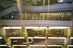 Toronto Reference Library (prince_aa) Tags: 35mm film fujifilmsuperiaxtra400 analog analogue pentax compact pointandshoot pentaxespio70 pentaxespio espio fujifilm fuji toronto library multipleexposure