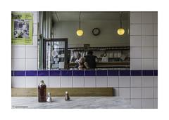 Cooke's Pie and Mash and Me  © (wpnewington) Tags: pieandmash london selfie mirror reflections market hoxton eastend