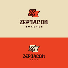 Logo-Zeptacon-Flicker (creoeuvre) Tags: creoeuvre logo icon studio brand minimal modern z elegant vintage pop sleek flag roaster zlogo retro coffee sharp brown orange