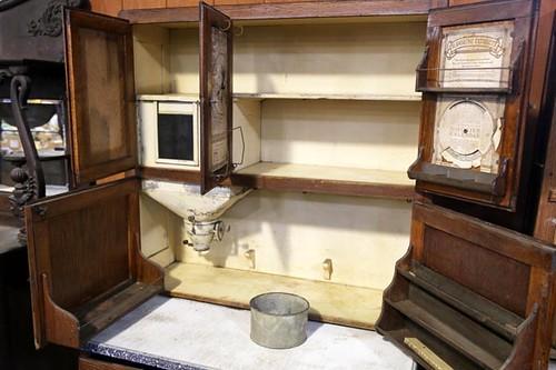 Oak Hoosier Kitchen Cabinet ($392.00)