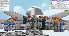 Figure 19: Main rotor cutaway view (Gabor Pauler) Tags: tlg lego technic legotechnic light attack compound helicopter rotary gun sidewinder aamram hellfire lau tow rotor drivetrain collective cyclic yaw controls
