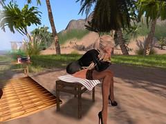 boring thursday (Lettie Bellic) Tags: beach chair sand mood