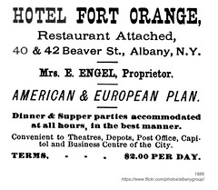 1886 hotel fort orange (albany group archive) Tags: albany ny history 1886 hotel fort orange restaurant beaver street engel 1880s old vintage photos picture photo photograph historic historical