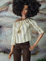 Boho Days – the brown faux suede pants and Boho top (Levitation_inc.) Tags: ooak doll dolls clothes handmade fashion fashions royalty nuface integrity toys levitationfashion etsy barbie barbiestyle poppy parker summer boho 2018