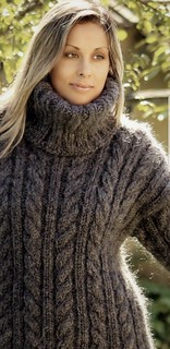 Charcoal cabled wool sweater