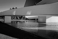 Shadows (A. Neto) Tags: afsnikkor18105ged copyright©aneto d5200 nikkor nikon nikond5200 blackwhite bw architecture water shadows reflections people