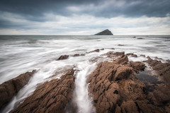 Grey Day at The Mewstone (Rich Walker75) Tags: plymouth wembury devon sea ocean seascape seascapes longexposure longexposures landscape landscapes landscapephotography nationaltrust canon eos efs1585mmisusm beach beaches coastal rock water waves cloud clouds