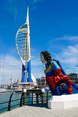 Spinnaker Tower and HMS MARLBOROUGH figure head (Ugborough Exile) Tags: portsmouth hampshire hants england uk sony a6300 2018 spinnaker