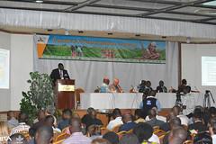 Martin Fregene of AfDB giving opening key note at GCP21 IV.TH International Cassava Conference (IITA Image Library) Tags: cassava manihotesculenta globalcassavapartnership gcp21 scientificconference transformation benin cotonou africa