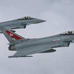 Two Typhoon FGR4 aircraft, flown by 29 (R) Squadron from RAF Coningsby thumbnail