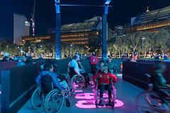 Ride Into the Night (Rambo2100) Tags: vivid vividsydney 2018 rambo2100 sydney australia rideintothenight night light tumbalongpark darlingharbour wheelchair
