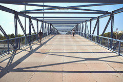 (Pawel Trybulski) Tags: d5200 pawt athens greece cage people bridge sun shadows sky architecture composition lightroom shapes squares triangles