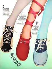 All Tied Up (jerkingchicken) Tags: seventeenmagazine 1971 vintageshoes seventiesshoes 1970s