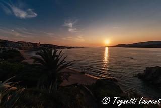 Coucher de soleil sur le golfe du Valinco