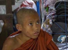 Rostros para un mercado: el joven monje (Nebelkuss) Tags: myanmar nyaungshwe lagoinle inlelake asia birmania burma mercado market mirada look retratos portrait faces rostro fujixt1 canonfd100f28