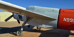 Grumman AF-2S Guardian ASW/fire-fighter, c1950- Pima Air & Space Museum, Tucson, Arizona. (edk7) Tags: nikond3200 edk7 2013 us usa arizona tucson arizonaaerospacefoundation pimaairspacemuseum unitedstatesnavy usn grummanaf2sguardian 129233 n9995z carrierbased antisubmarinewarfareasw midwing aircraft plane airplane aviation military weaponscarrier ordnancecarrier coldwar aerialfirefighter prattwhitneyr280046wdoublewasptwinrow18cylinderradial2300hp