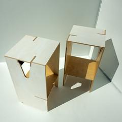 Two Nightstands Downview (ken mccown) Tags: furniture nightstand design plywood kenmccown furnituredesign elizabethwillis kobeewade matthewwilson maxfrank